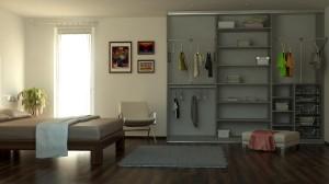 """Riešite nedostatok priestoru ? """" Otvorte"""" si váš interiér vstavanou skriňou"""