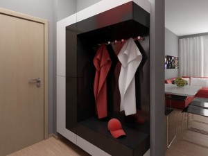 outstanding-small-hallway-furniture-ideas-including-small-built-in-closet-with-stainless-steel-clothes-hooks-also-contemporary-dining-chairs-alongside-metal-fruit-bowl-furniture-600x450